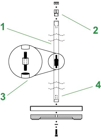 Museum Stanchions Diagram
